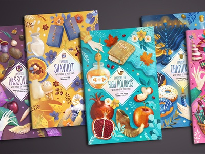 Holiday Guides 2018 chabad shavuot purim passover jewish holidays high hannukah design editorial brochure