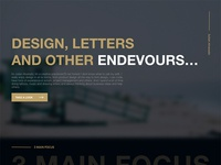 Design for my personal site