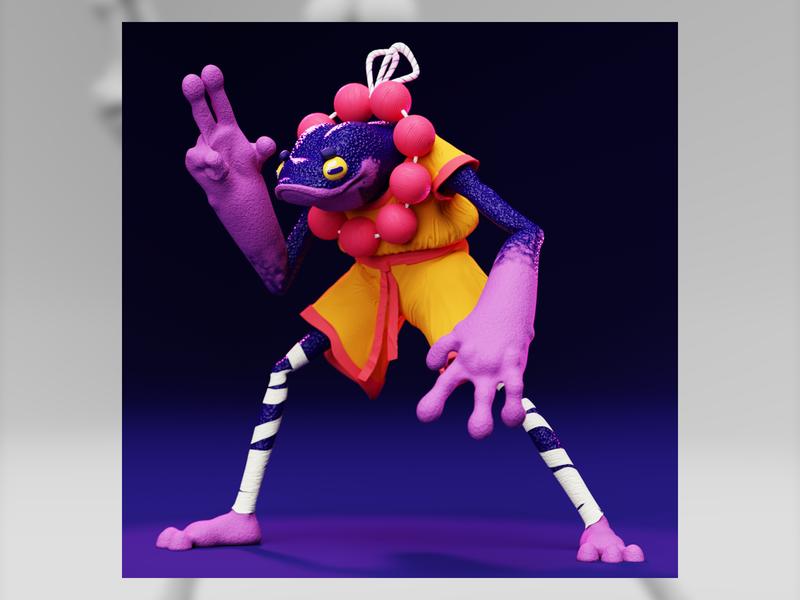 D&D Shadow Monk animation design render modeling art character 3d eevee cycles blender3d blender