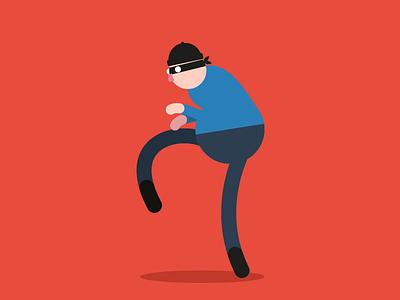 Sneaky Burglar flat burglar sneak effects after animation character sneaky