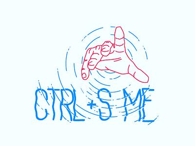 CTRL + S ME sos help drown hand illustration illustrator photoshop designers design ctrl me save
