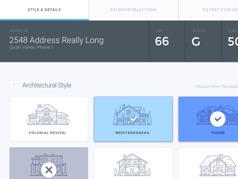 Architecture Panel ui real estate property