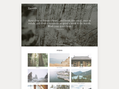The Reimers site layout web design photography adventure