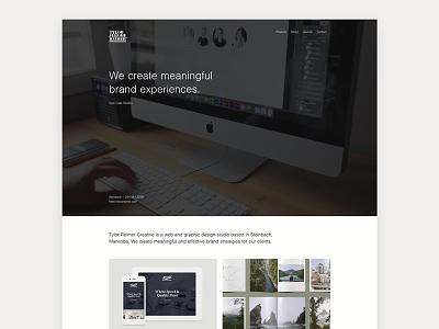 New portfolio site web design graphic design website portfolio