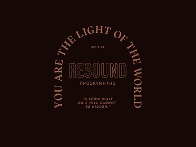 Resound shirt event typography