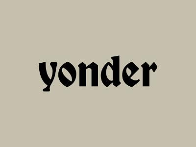 Yonder 1800s font custom typography blackletter