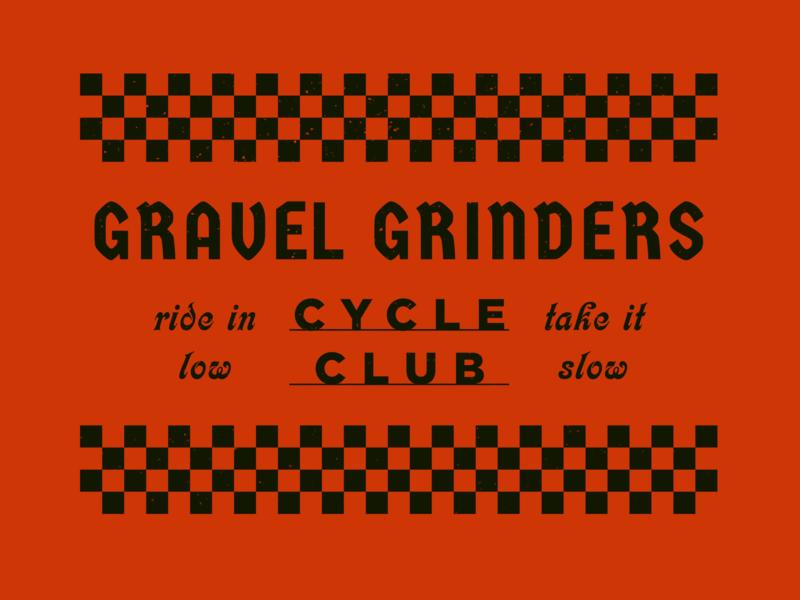 Gravel Grinders C.C. typography club bike bicycle cycle