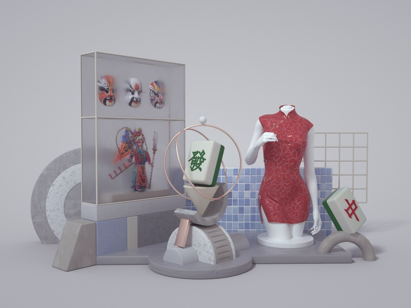 Charismatic China-1 illustration 3d