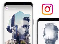 Instagram Double Exposure Template *FREE