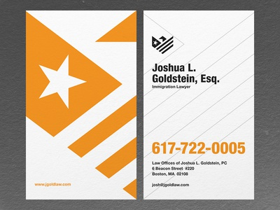 Law Offices of Joshua Goldstein - Business Card