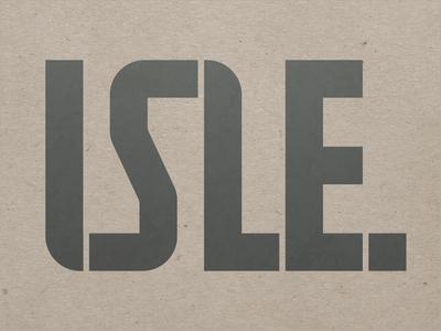 ISLE Ltd. architecture realestate period boldletters bold logotype roughpaper greek greece landscape identity logo
