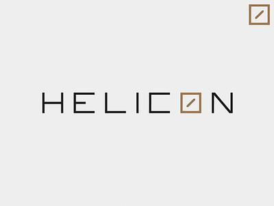 Helicon - Identity - Light version light schematic logotype architect identity