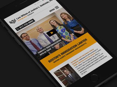 JGoldLaw.com Mobile Design webdesign responsive law website iphone mobile