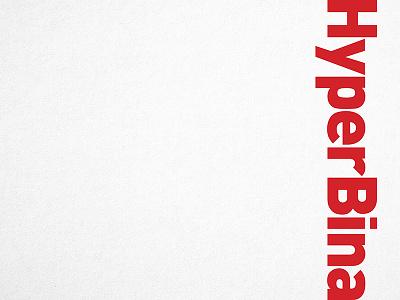 Hyperbina Logotype identity logo bold architecture din logotype
