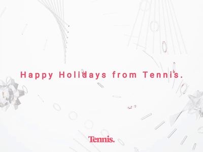 Happy Holidays from Tennis new year chirstmas holiday brand 3d c4d motion animation motion graphics design