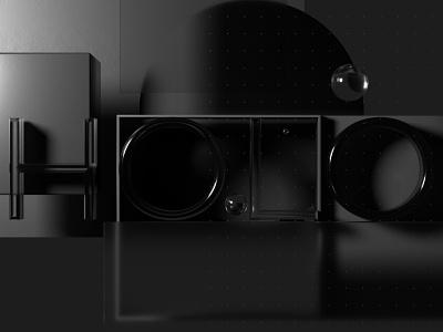 HOLO Concept renders octane render concpt transparent metal glass brand identity branding design c4d 3d