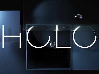 HOLO Concept Renders metal octane concept brand transparent glass brand identity 3d branding c4d design