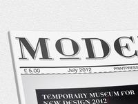 Cover Magazine_Dotty font_Modern