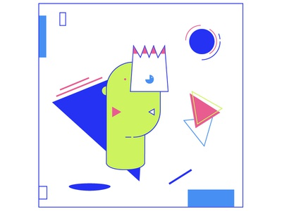 the king design motion vector illustration