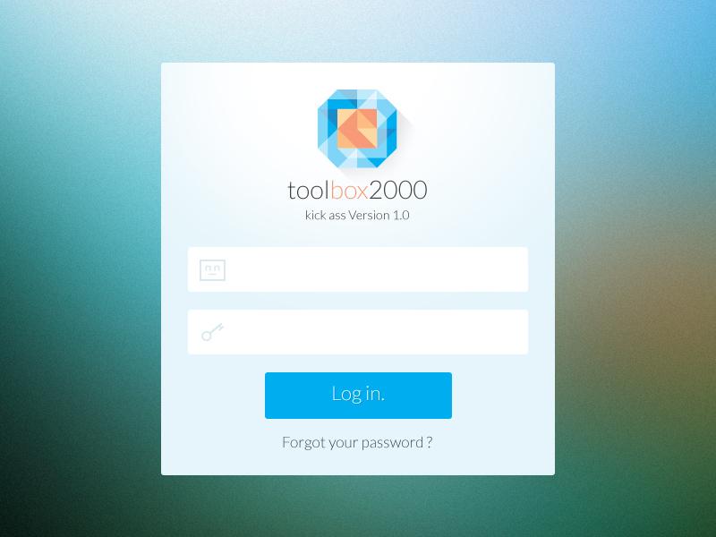 ui design login interface toolbox by romain s chan dribbble
