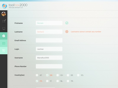 UI/UX Design - User Creation Form