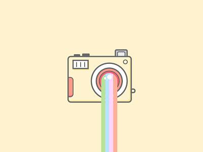 [Moonkey Babysitting] Instagram Illustration design icon flash illustration illustrator vector yellow lens rainbow photo instagram camera