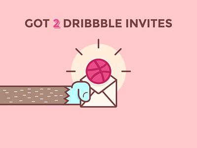 [OVER] 2 Dribbble Invites to give away arm hand mail ball monkey yeti draft invitation invite dribbble dribbble invite