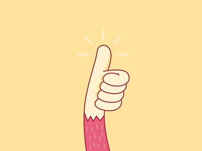 Thumb Up thumb up cool illustration moonkey monkey illustrator yellow thumb