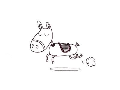Horse Sketche jump pencil horse sketche