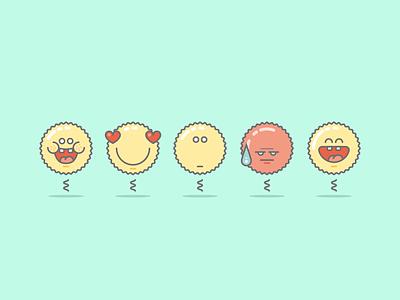 Cool Emoticons Set surprised lol laugh smile bad love happy smileys emotions faces emoji emoticon