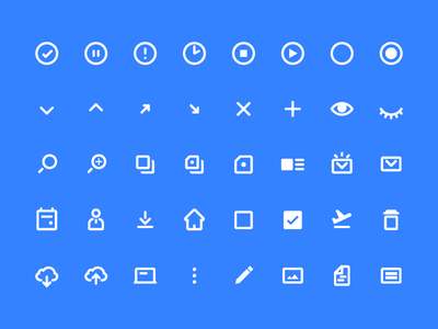 Design System Icons Set ui kit icons set design system cloud home user save status icons