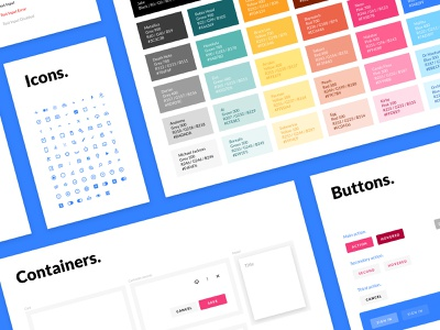 Ligatus Bold Design System icons buttons forms sketch app type colors ui kit ux design design system