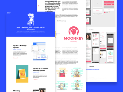 New Portfolio identity components ui kit ux ux  ui blue illustration branding design system portfolio