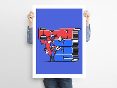 Hot The Dog poster character vector graphic design illustration illustrator graffiti hot dog