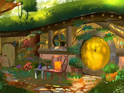 hobbiton rings newzealand houses shire nature lotr hobbiton