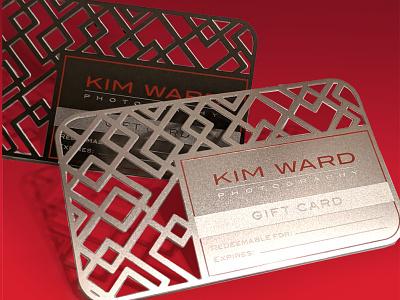 KimWard Photo GiftCards brand identity gift card lasercut