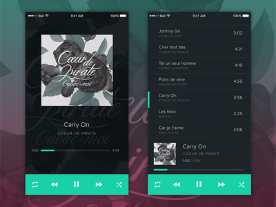 Music player 🎶 by Julia UI/UX on Dribbble