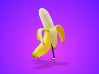 Moonwalking Banana