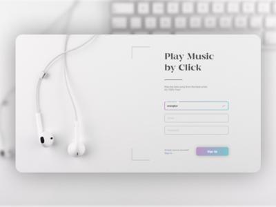 Music App Sign Up Screen