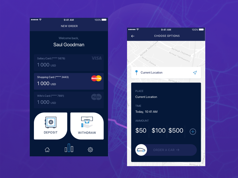 Uber Banking By Stas Kustov On Dribbble