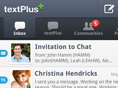 Android textplus redesign