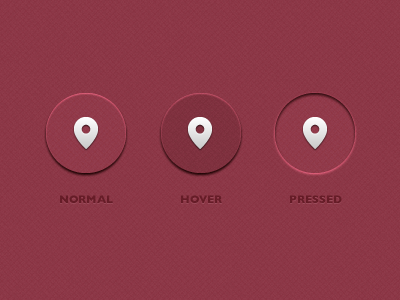 Glass Buttons red glass buttons ui