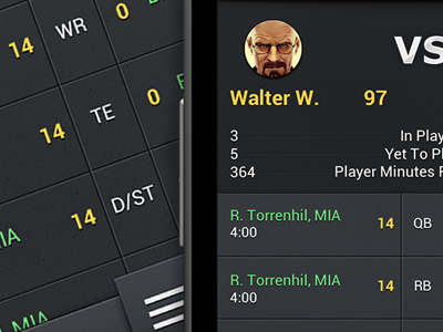Walter White android ui xhdpi grey dark google mobile