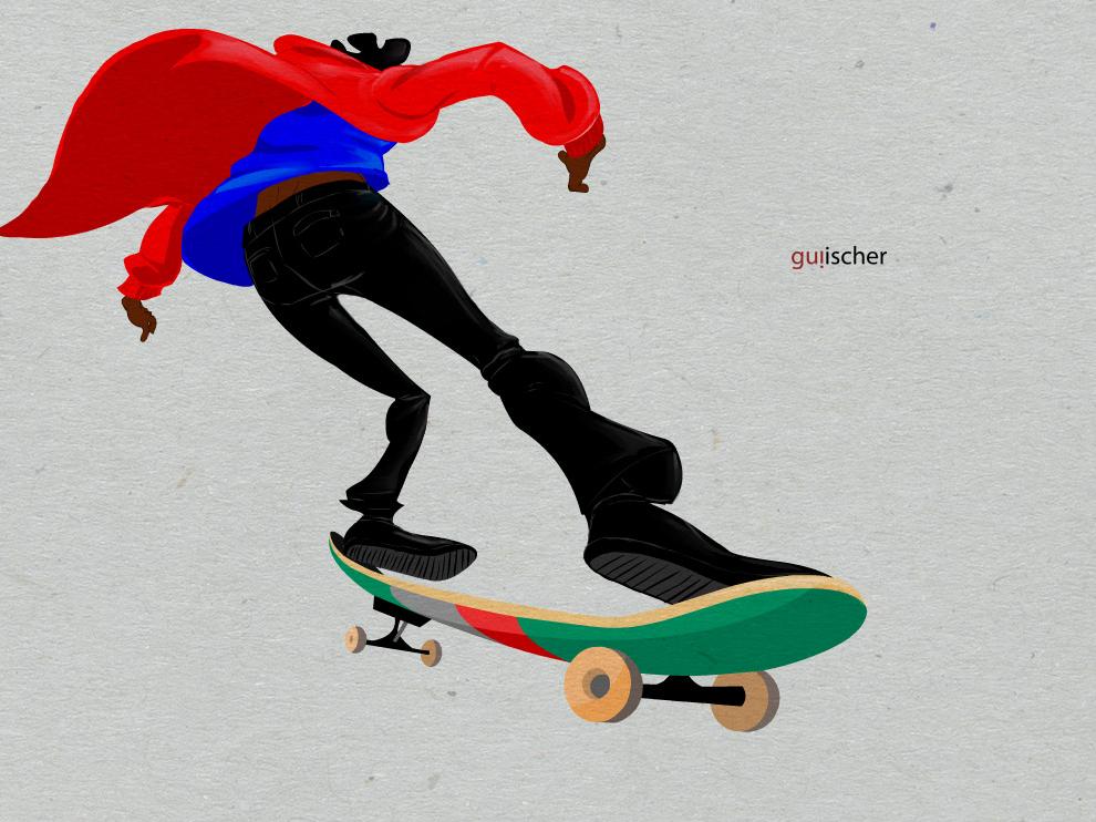 360 bs skateboard illustration character design