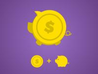 Branding for Saving App based on Piggy Bank