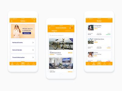 Classified App android design app blue ux ui white sale ecommerce cards clean mobile ios app orange rental app