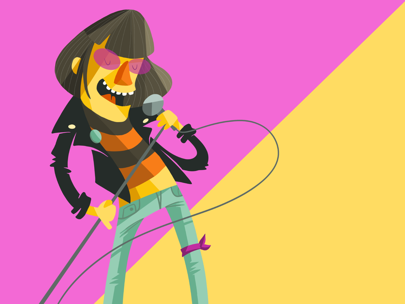 Hey! Ho! Let's Go ramones procreate illustration character design