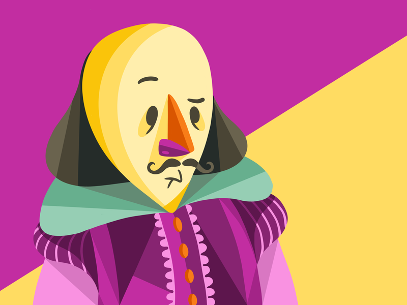 Shakespeare shakespeare character design procreate illustration