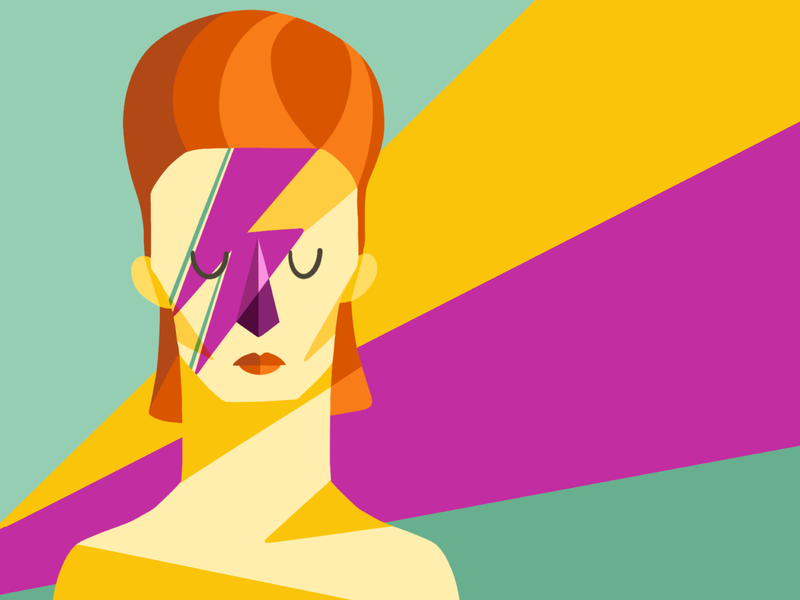 Bowie david bowie procreate character design illustration