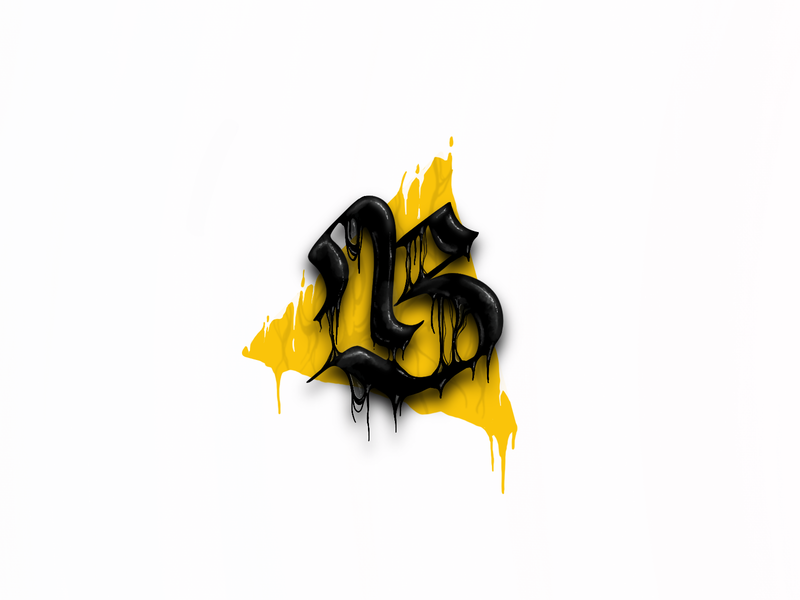 B Blackletter procreate hand lettering blackletter lettering